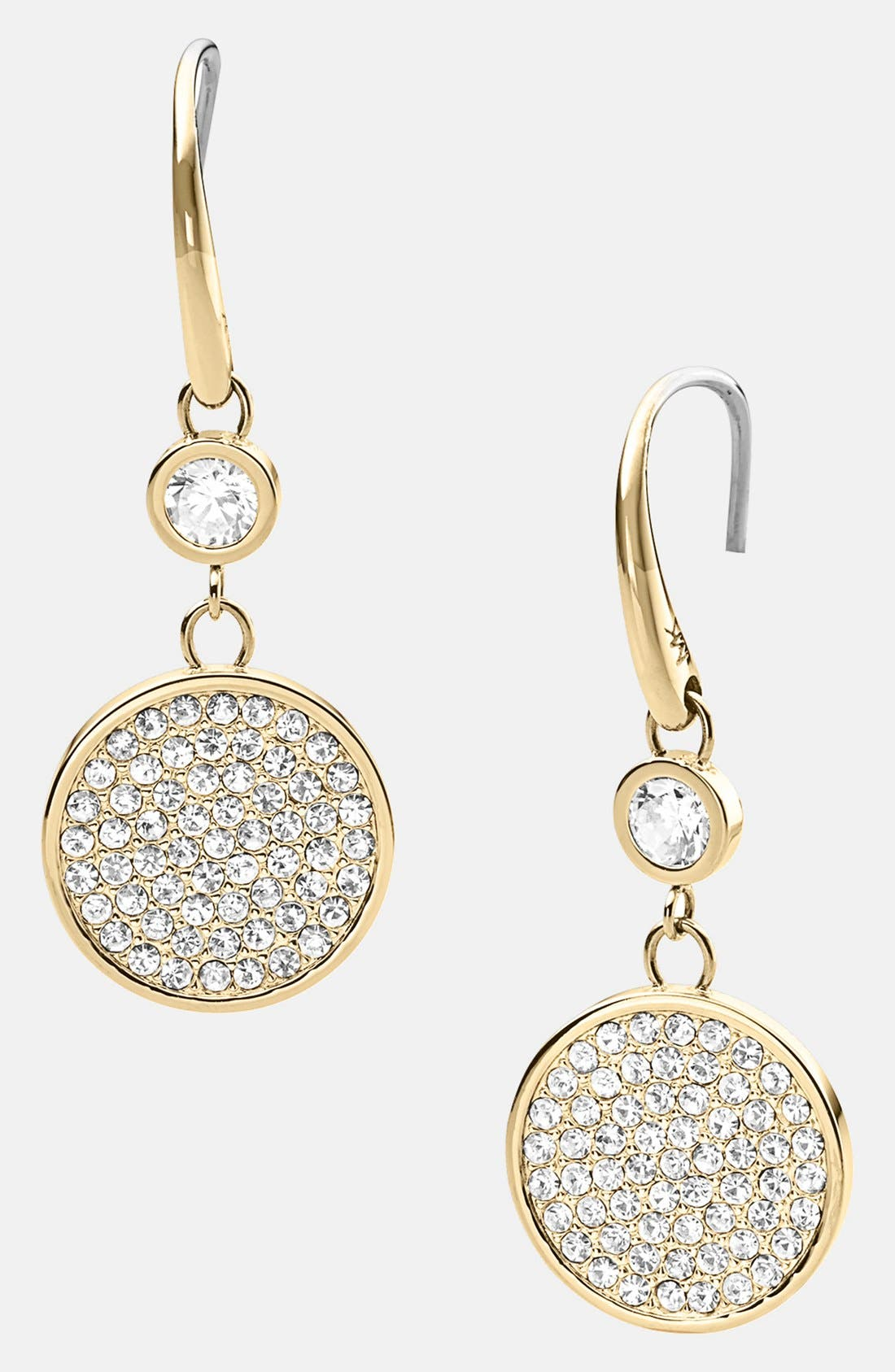 Alternate Image 1 Selected - Michael Kors 'Brilliance' Pavé Disc Drop Earrings