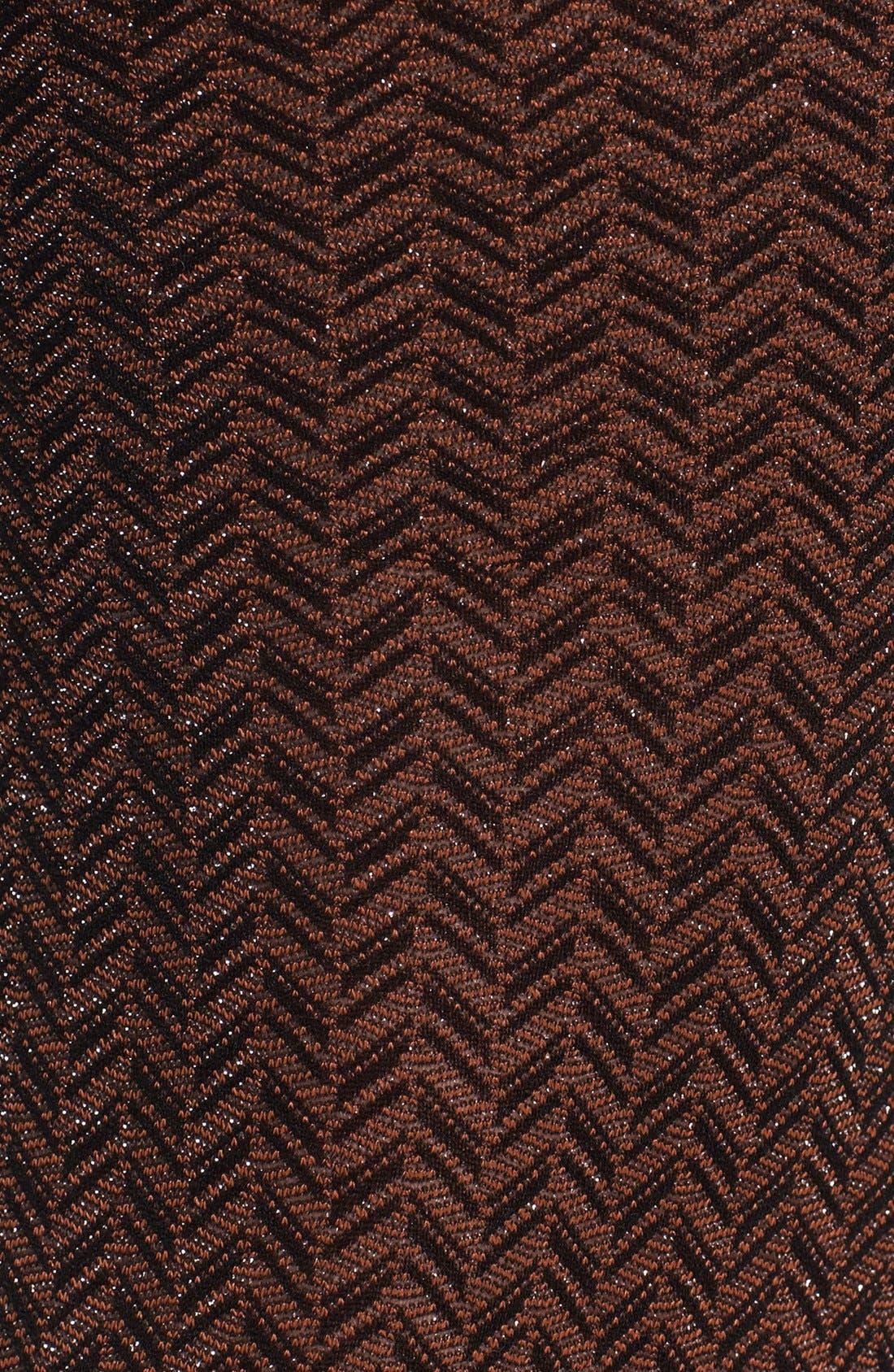 'Shimmer Herringbone' Tights,                             Alternate thumbnail 2, color,                             Cinnamon