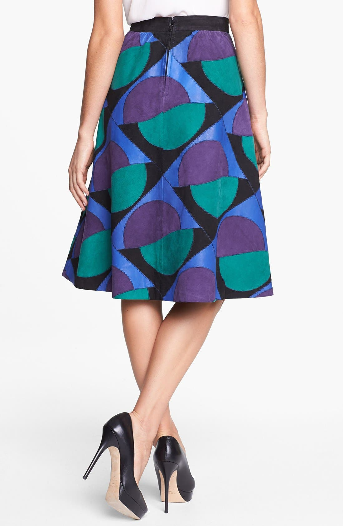 Alternate Image 2  - MARC BY MARC JACOBS 'Luna Patchwork' Suede Skirt