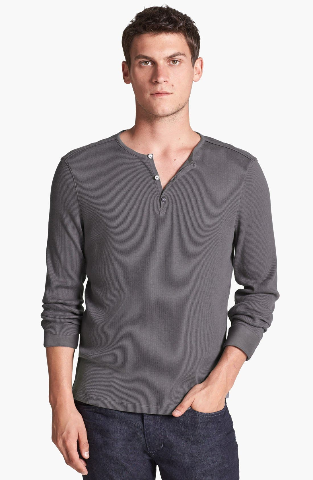 Main Image - John Varvatos Star USA Ribbed Long-Sleeve Henley