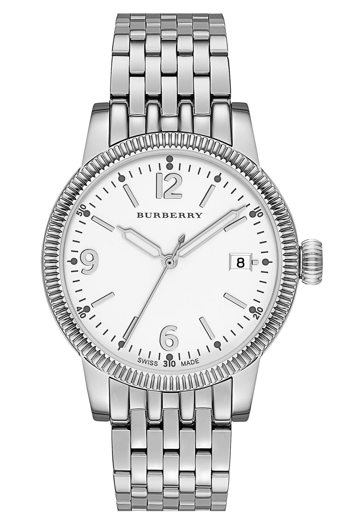 Main Image - Burberry Round Bracelet Watch, 38mm