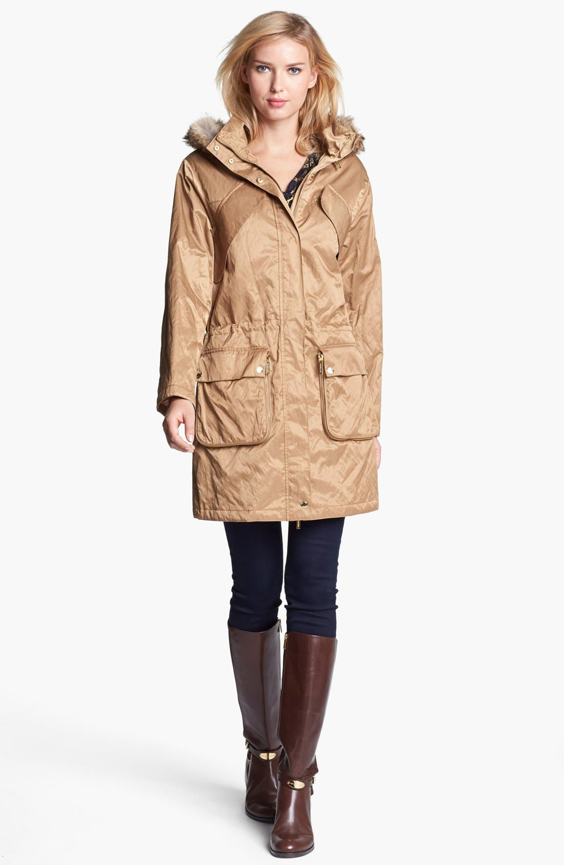 Alternate Image 4  - MICHAEL Michael Kors Hooded Anorak with Faux Fur Trim