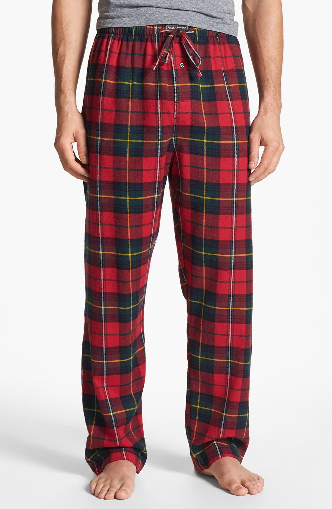 Alternate Image 1 Selected - Polo Ralph Lauren Flannel Lounge Pants