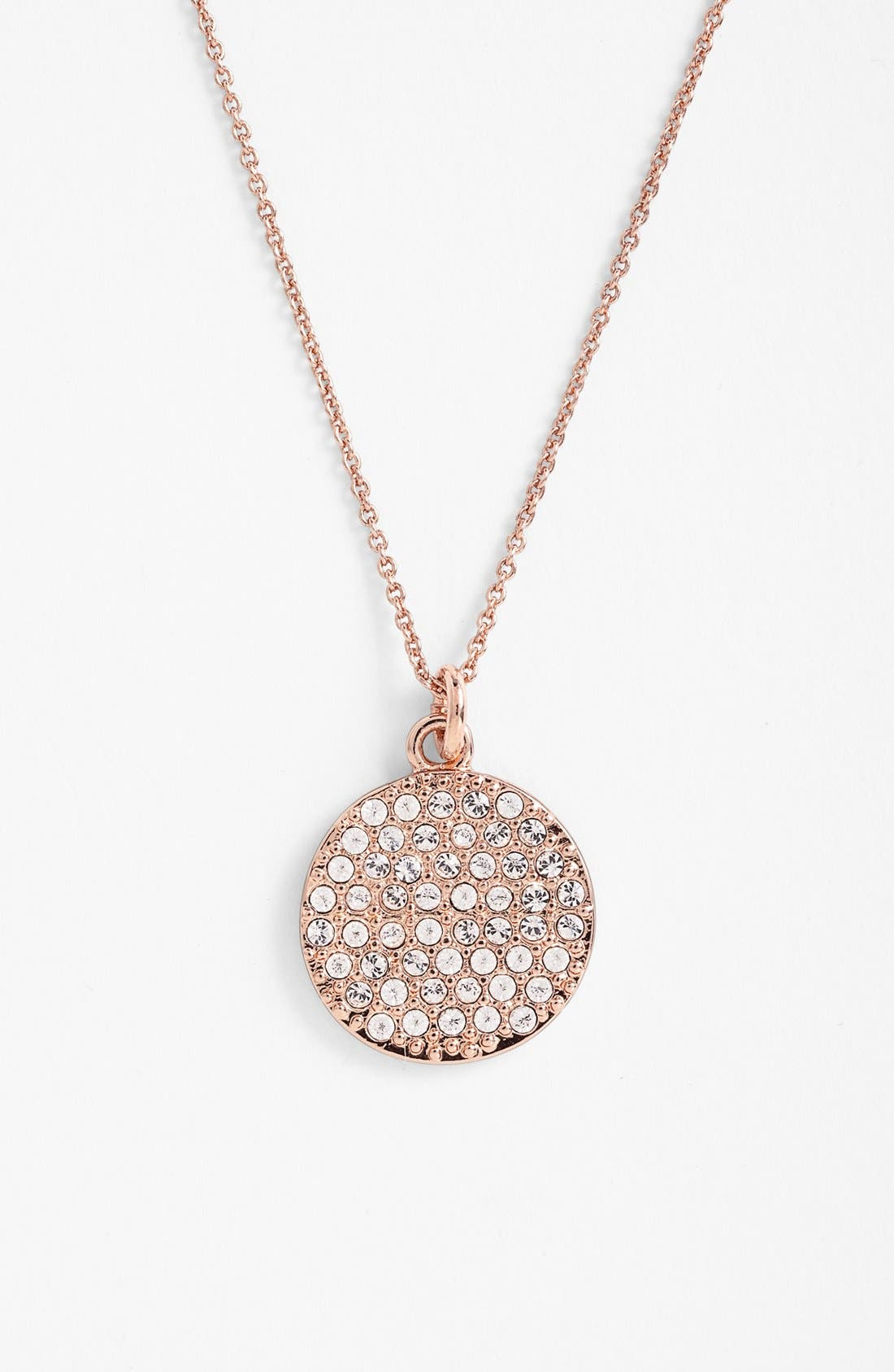 Alternate Image 1 Selected - kate spade new york 'idiom - make me blush' boxed pavé pendant necklace