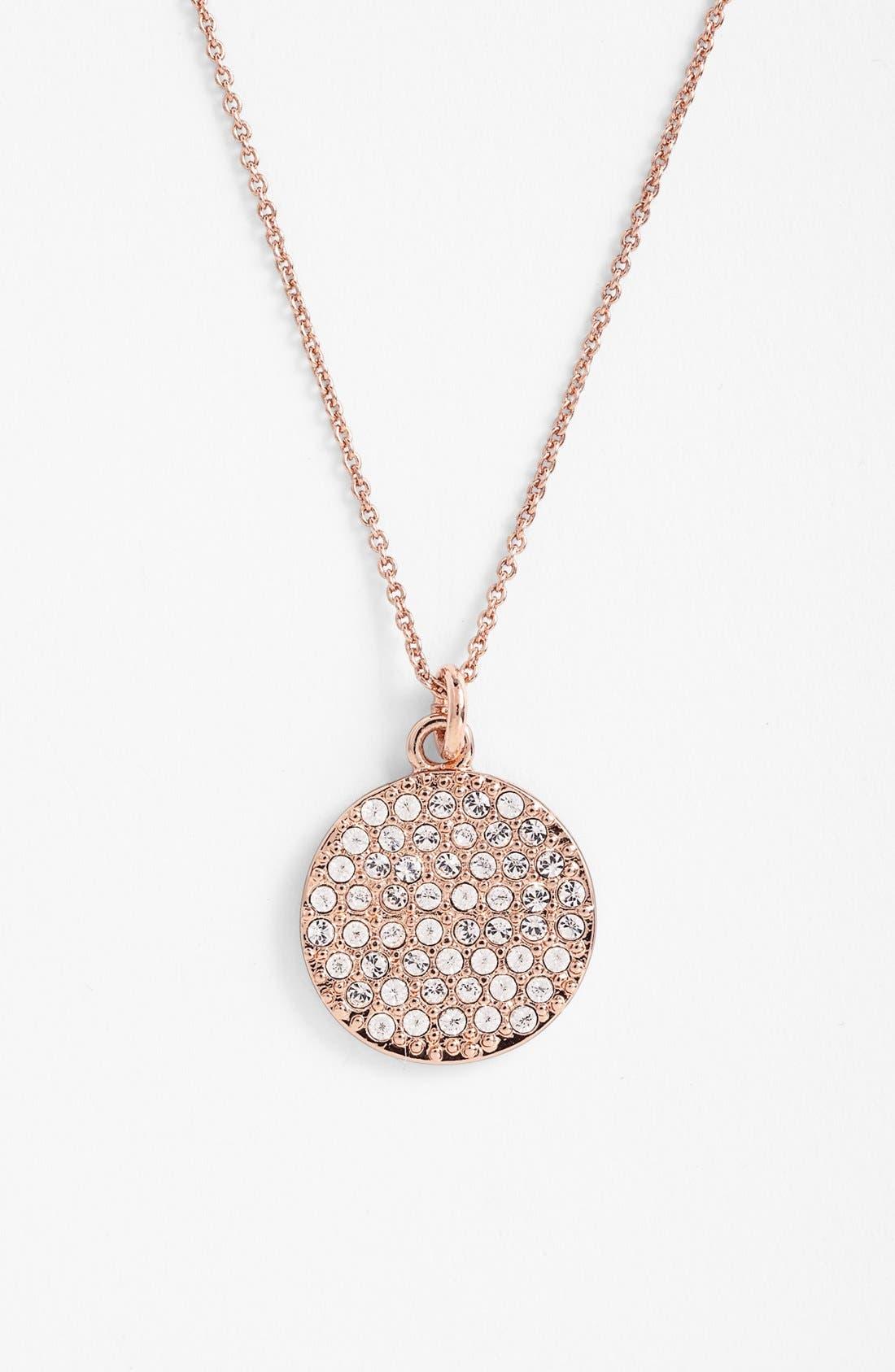 Main Image - kate spade new york 'idiom - make me blush' boxed pavé pendant necklace