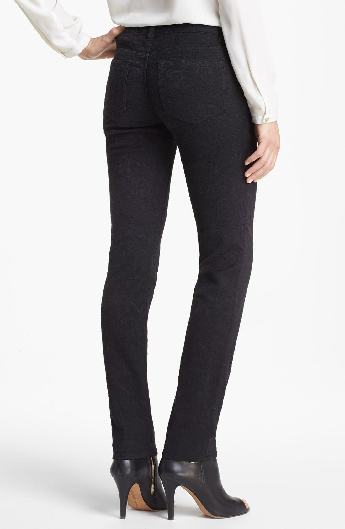 Alternate Image 2  - Two by Vince Camuto Tonal Jacquard Jeans