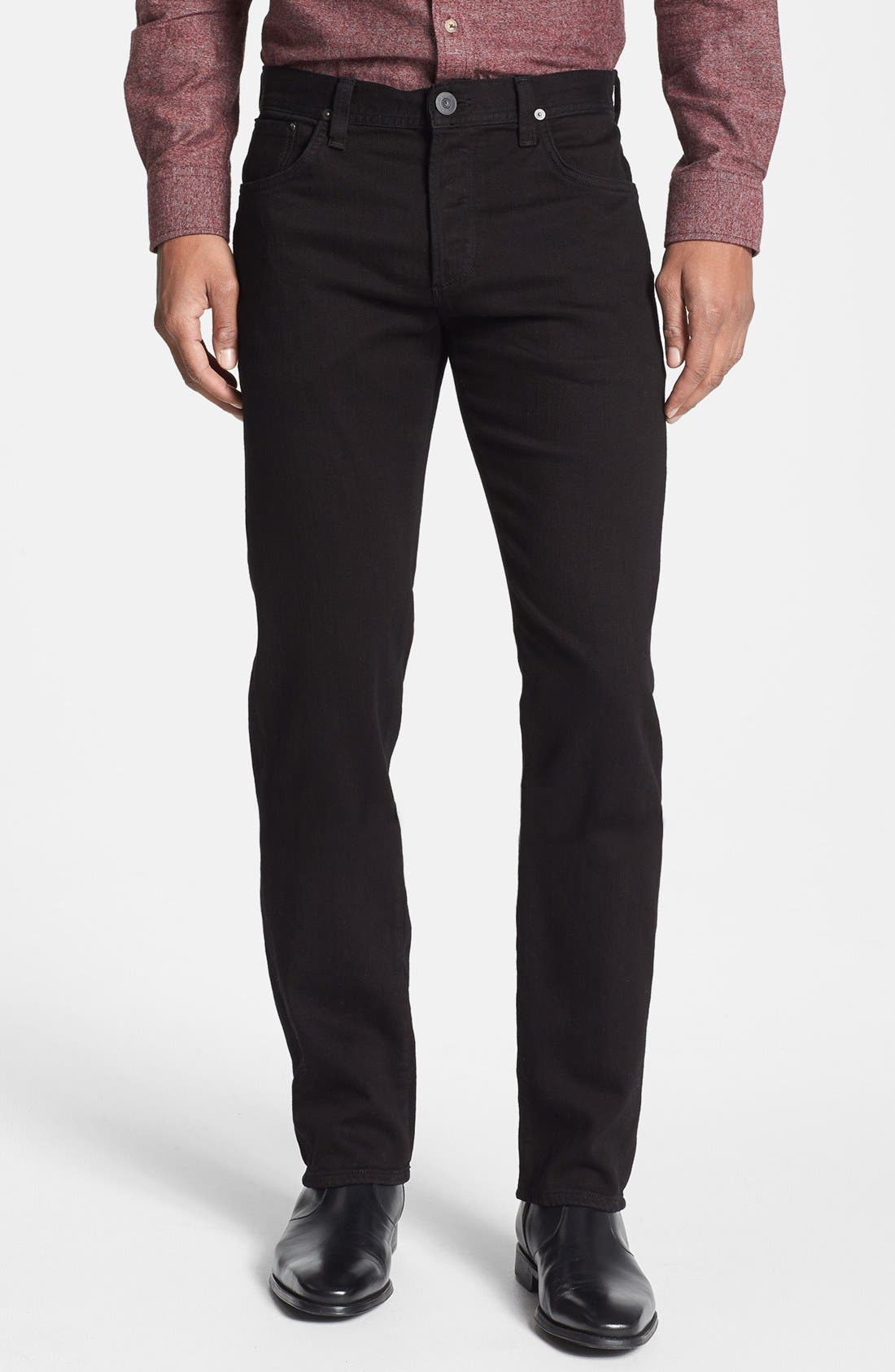 'Core' Slim Straight Fit Jeans,                             Main thumbnail 1, color,                             Midnight