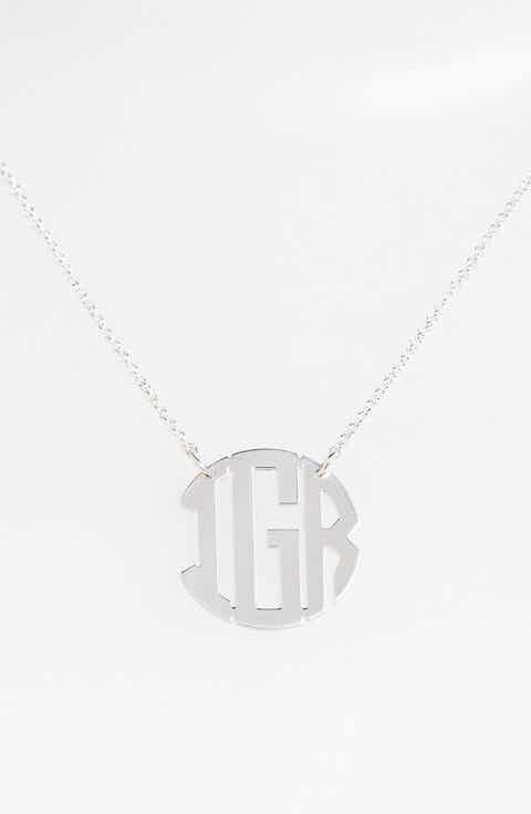 Personalized gifts nordstrom argento vivo personalized 3 initial block monogram necklace nordstrom online exclusive negle Gallery