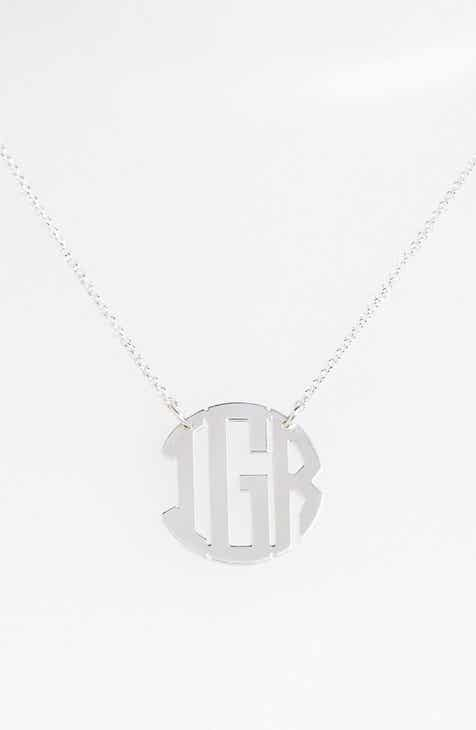Personalized gifts nordstrom argento vivo personalized 3 initial block monogram necklace nordstrom online exclusive negle Choice Image