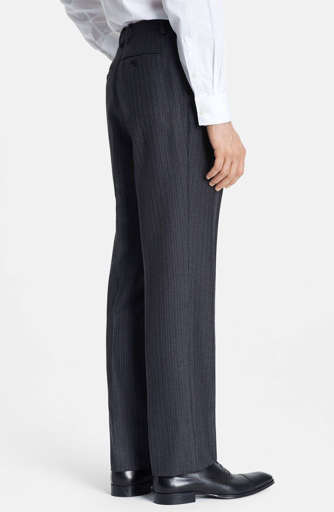 Alternate Image 6  - Burberry London Grey Stripe Wool Suit