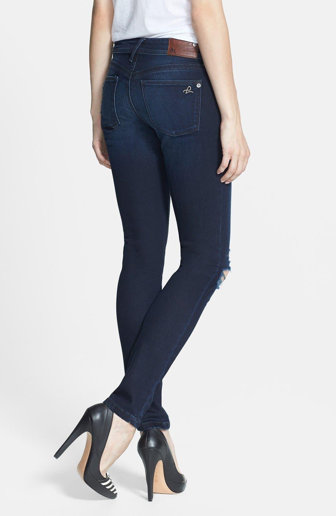 Alternate Image 2  - DL1961 'Amanda' Distressed Skinny Jeans (Seville)
