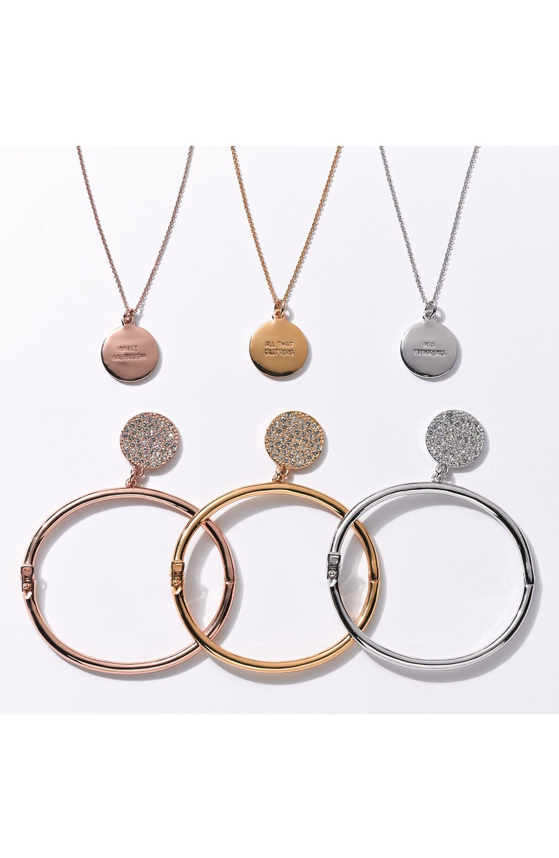 Alternate Image 6  - kate spade new york 'idiom - all that glitters' boxed pavé pendant necklace