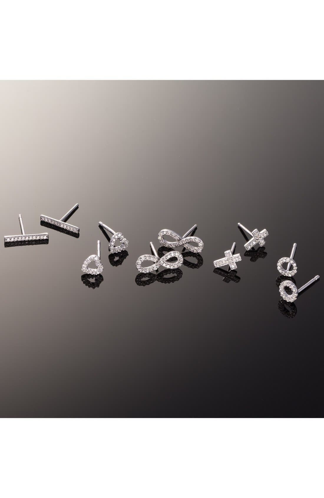 Alternate Image 4  - Adina Reyter Pavé Diamond Infinity Symbol Stud Earrings (Online Only)