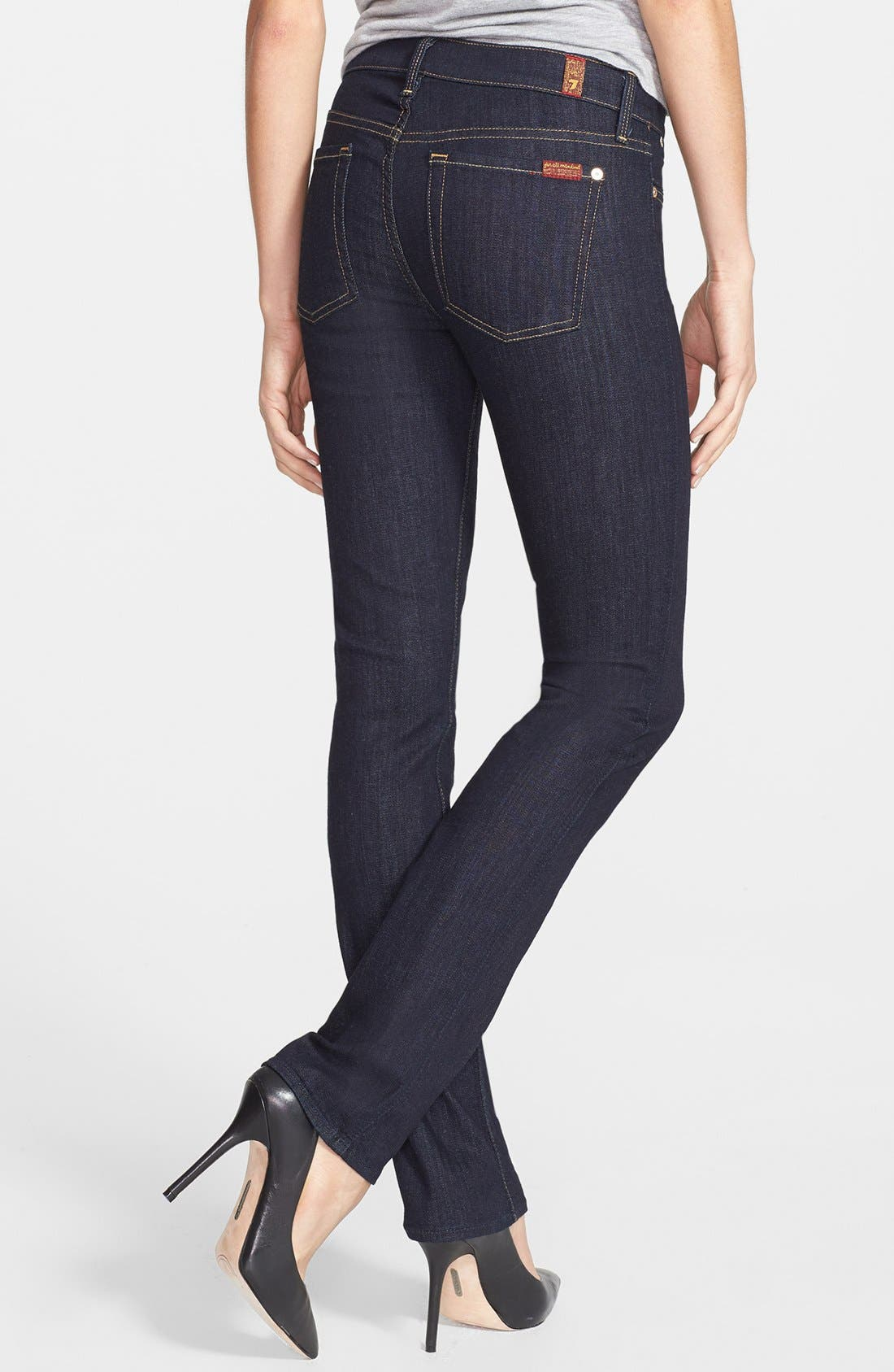Alternate Image 2  - 7 For All Mankind® 'Modern' Straight Leg Jeans (Ink)