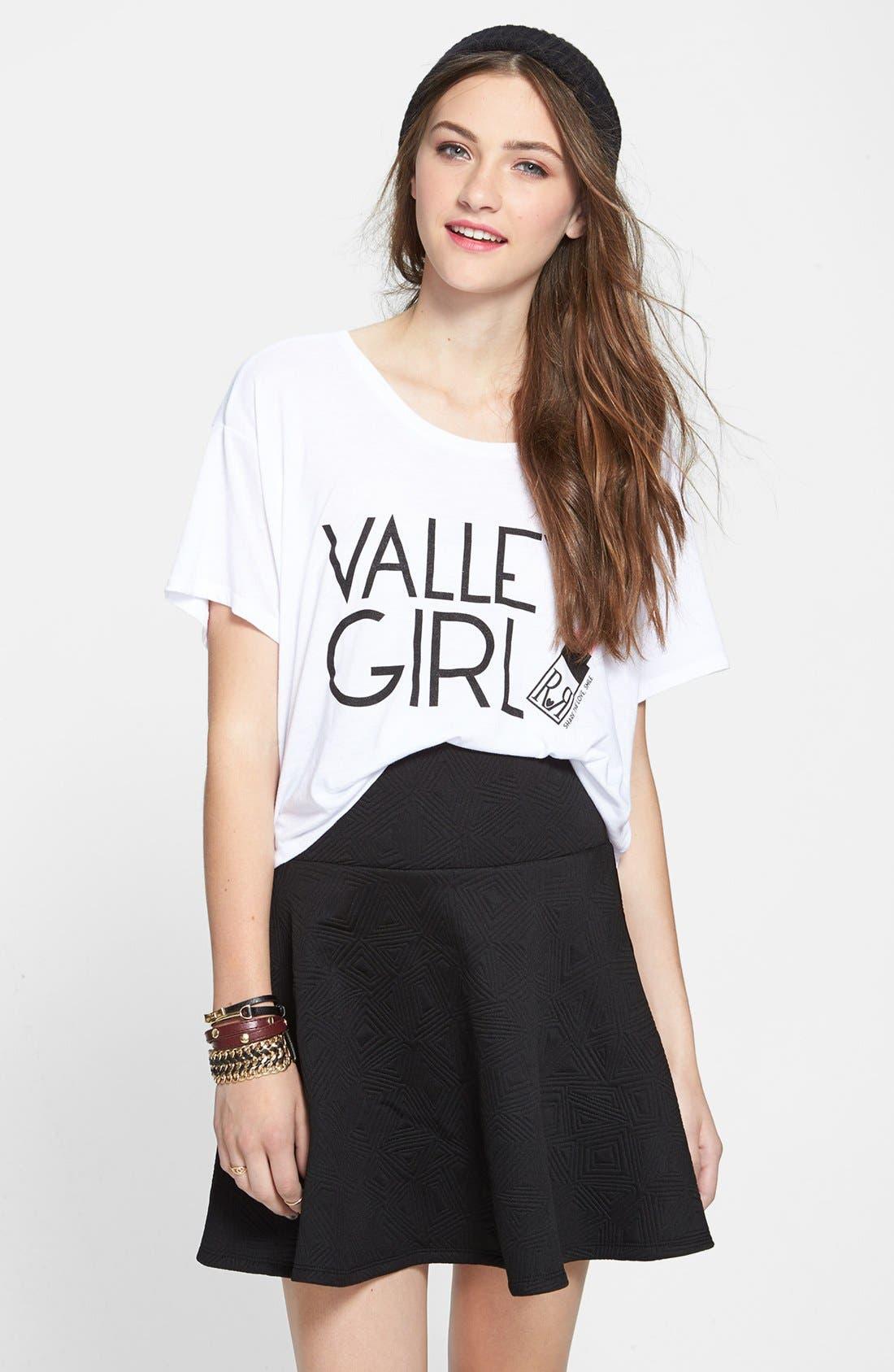 Alternate Image 1 Selected - Lily White Textured Skater Skirt (Juniors) (Online Only)