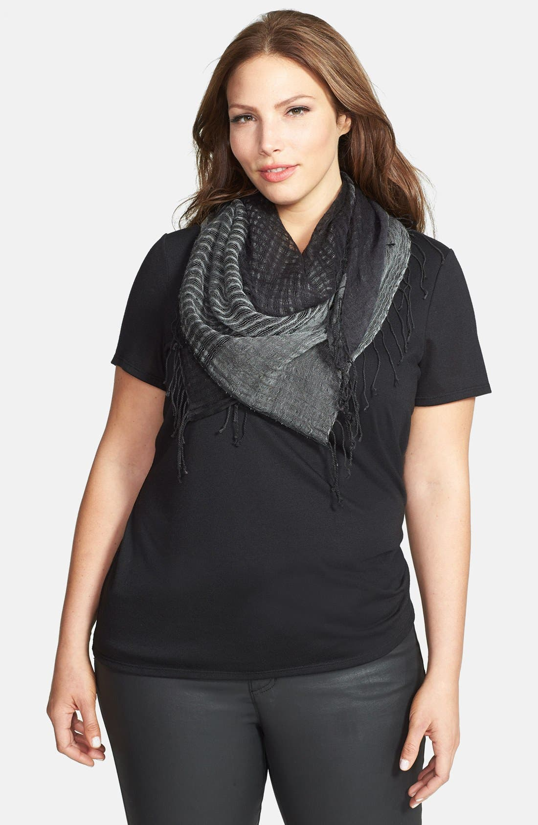 Alternate Image 1 Selected - Eileen Fisher Square Fringe Scarf