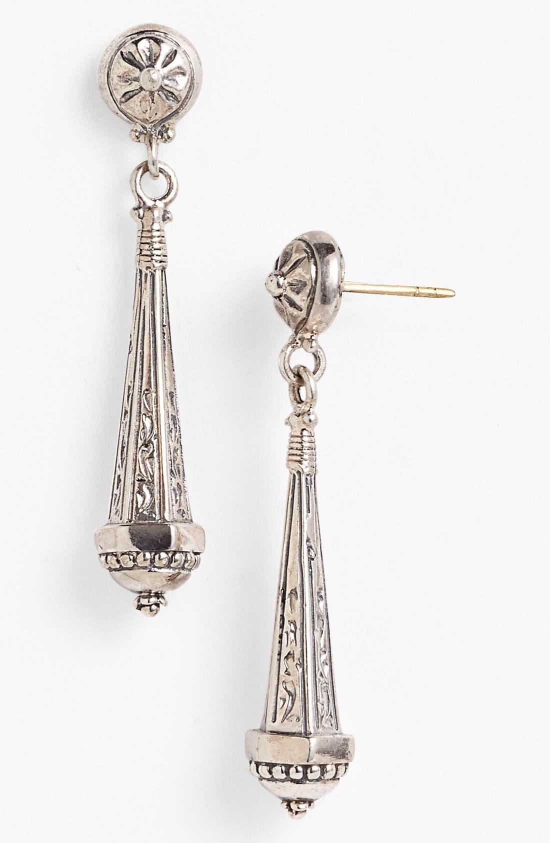 'Classics' Linear Earrings,                             Main thumbnail 1, color,                             Silver