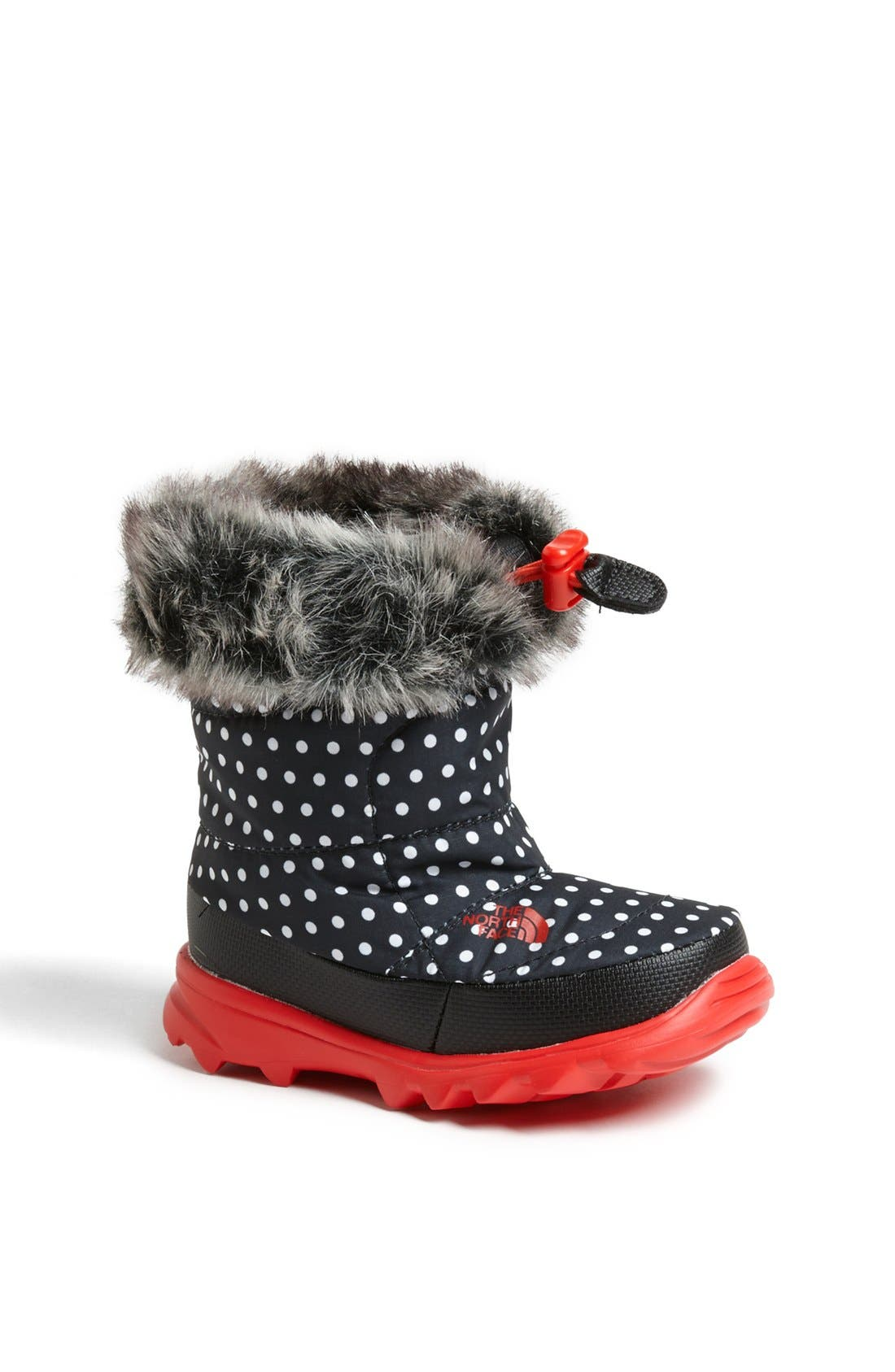 Alternate Image 1 Selected - The North Face 'Nuptse Fur II' Winter Boot (Walker & Toddler)