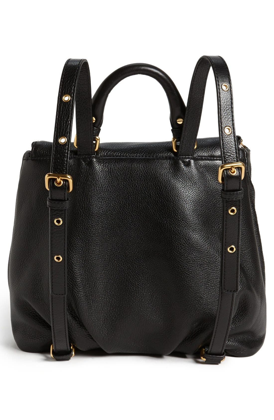 MARC BY MARC JACOBS 'Classic Q - Mariska' Backpack,                             Alternate thumbnail 3, color,                             Black