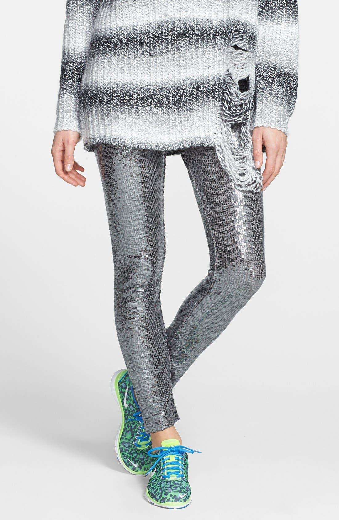 Alternate Image 1 Selected - Ralph Lauren Sequin Leggings