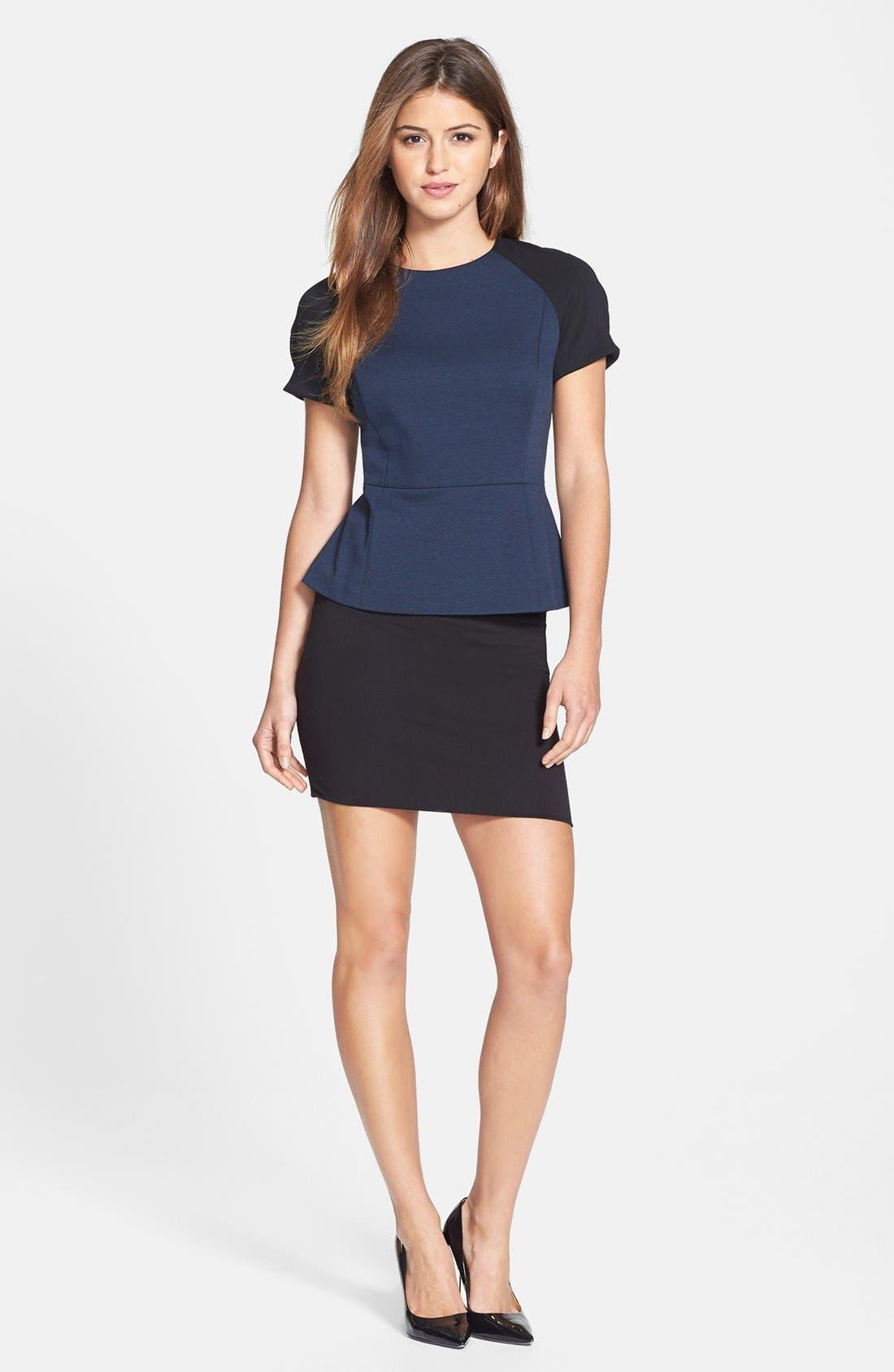 Alternate Image 2  - Lily White Banded Skirt (Juniors) (Online Only)
