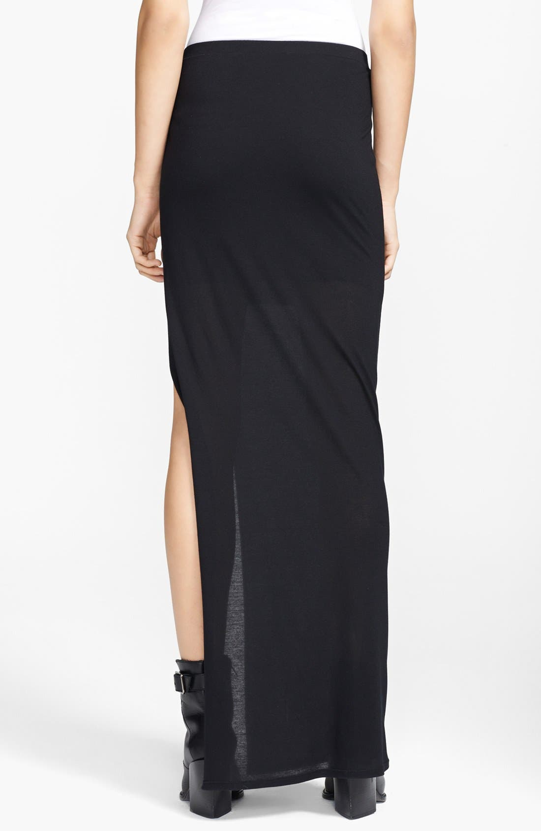Alternate Image 2  - HELMUT Helmut Lang 'Kinetic' Jersey Maxi Skirt