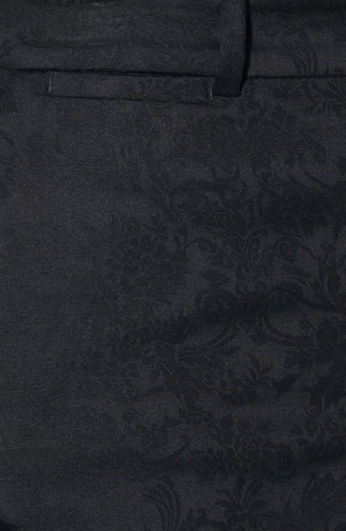 Alternate Image 3  - Lauren Ralph Lauren Tapestry Jacquard Pants (Petite)