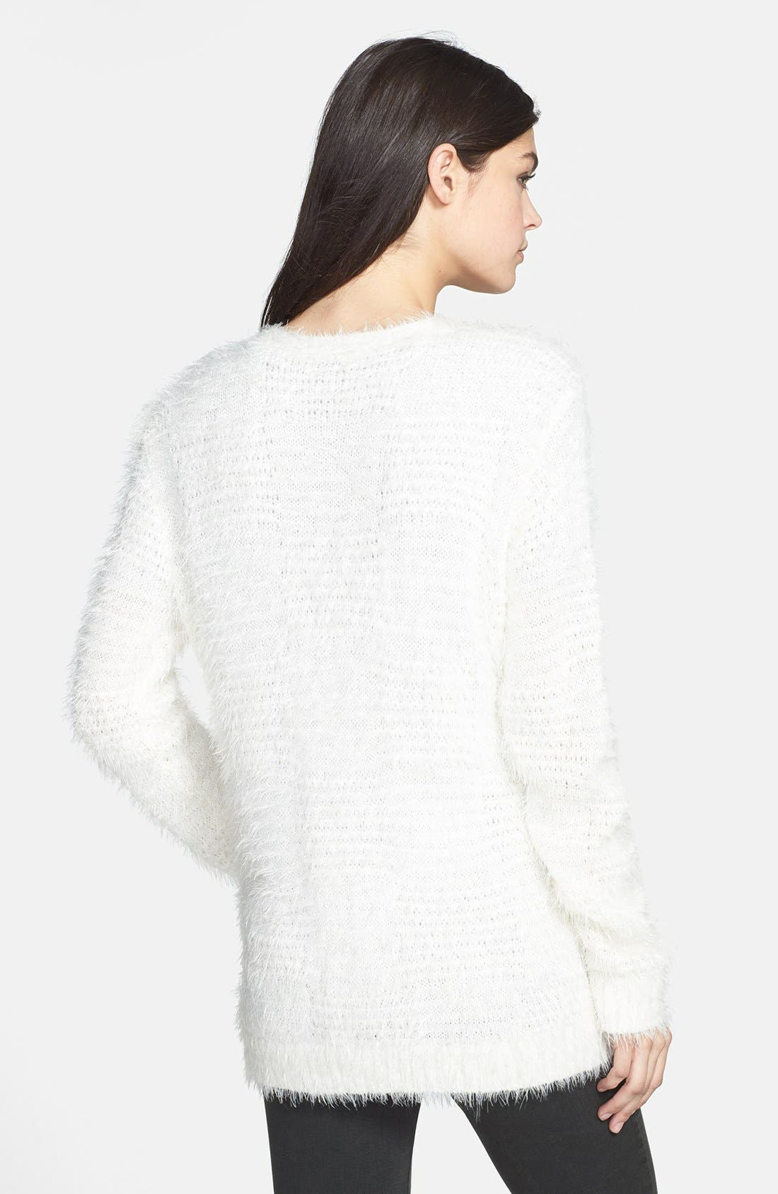 Textured Cardigan,                             Alternate thumbnail 2, color,                             Ivory