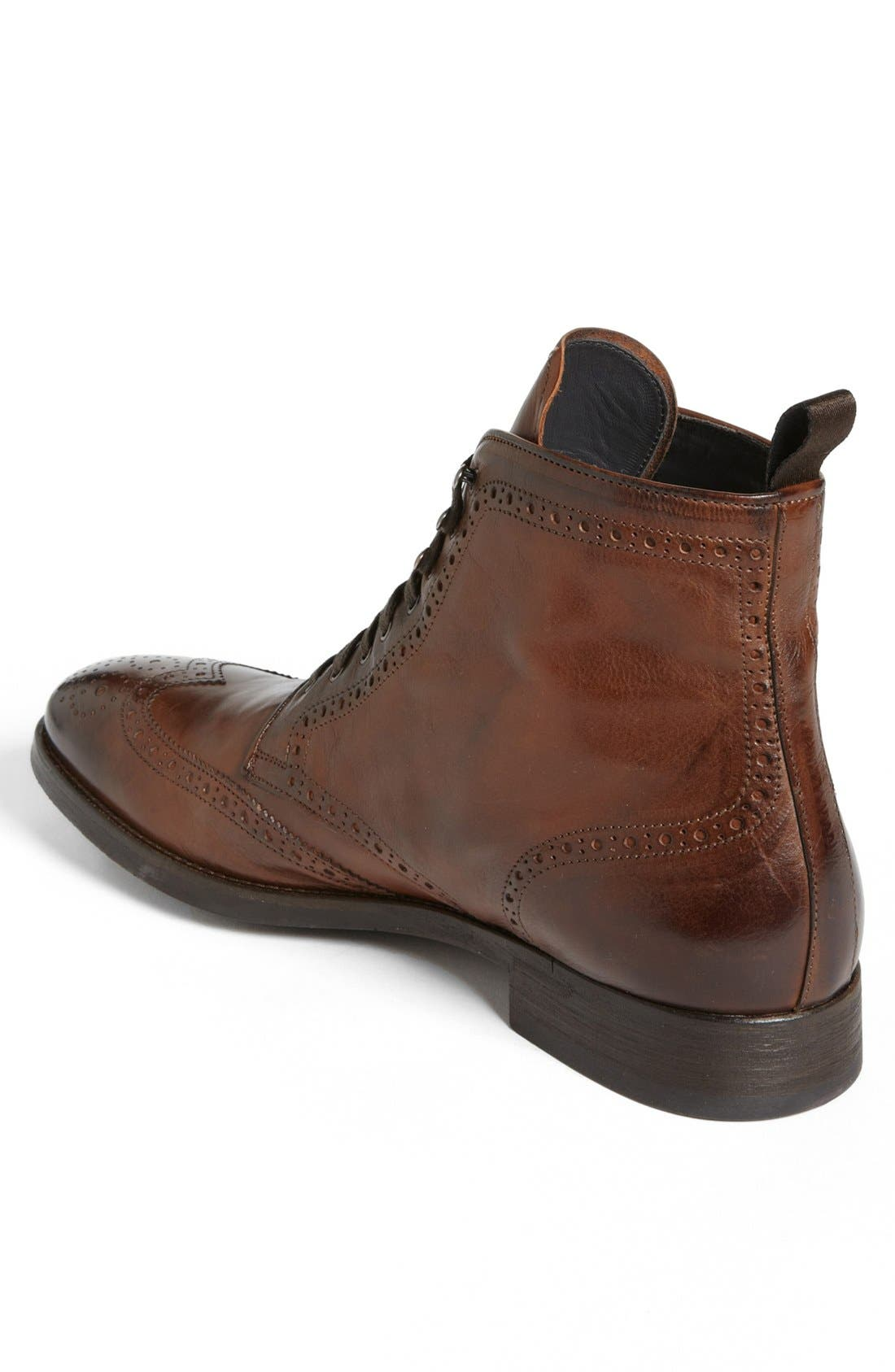 'Brennan' Wingtip Boot,                             Alternate thumbnail 2, color,                             Cognac