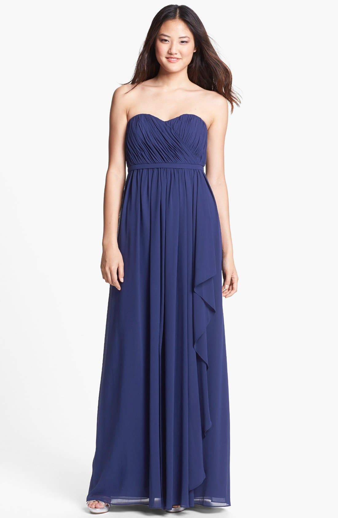 Alternate Image 1 Selected - Donna Morgan 'Lily' Draped Chiffon Dress