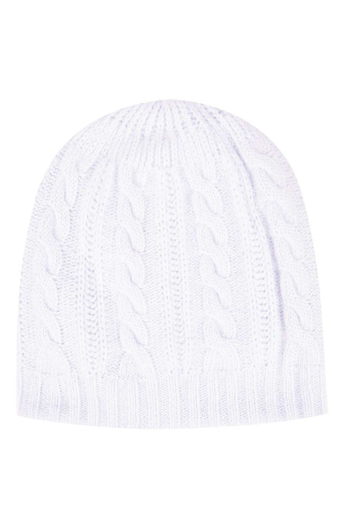 Main Image - Topshop Cable Knit Angora Beanie