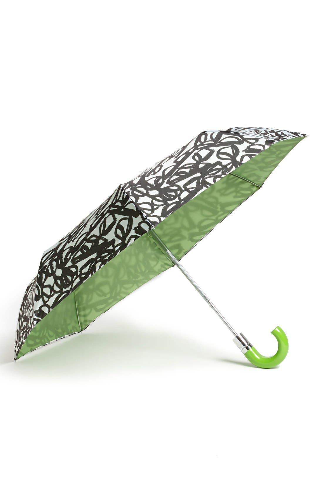 Alternate Image 1 Selected - kate spade new york 'literary glasses' travel umbrella
