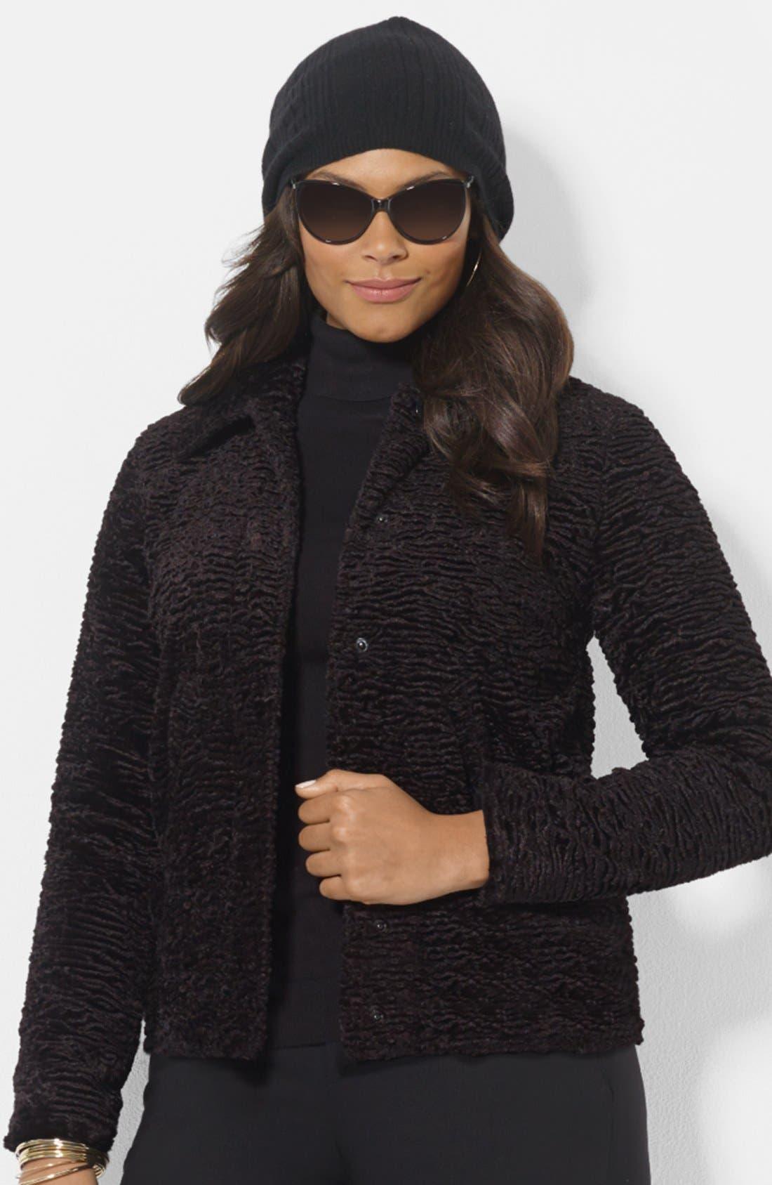 Alternate Image 1 Selected - Lauren Ralph Lauren Textured Jacket (Plus Size)