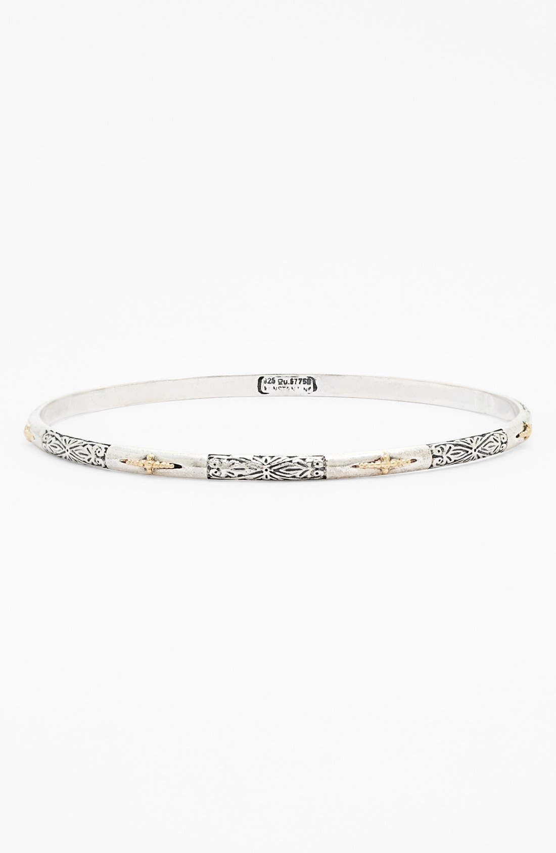 'Classics' Two-Tone Bangle,                         Main,                         color, Silver/ Gold