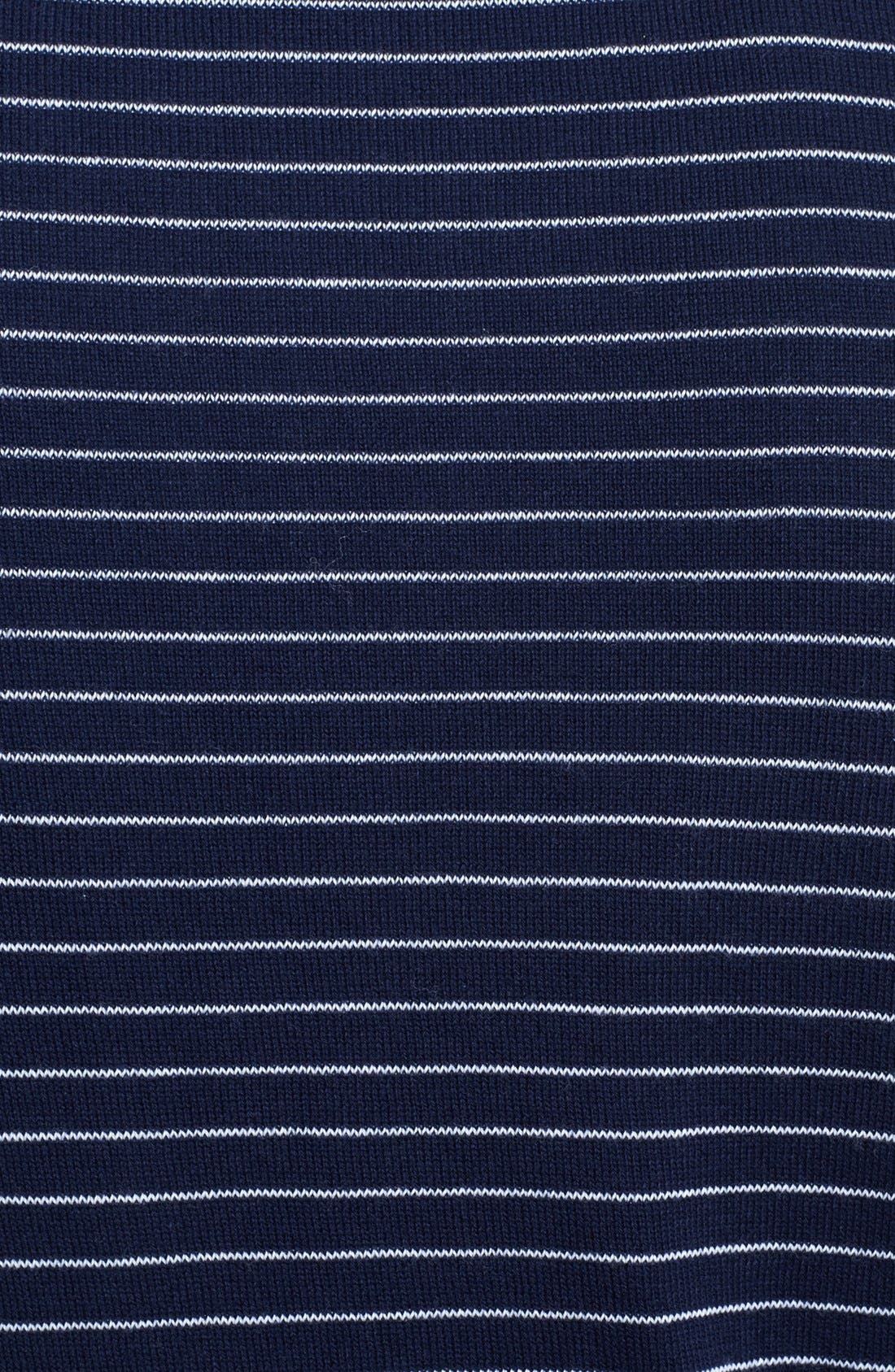 Alternate Image 3  - Canali Striped Crewneck Italian Sweater