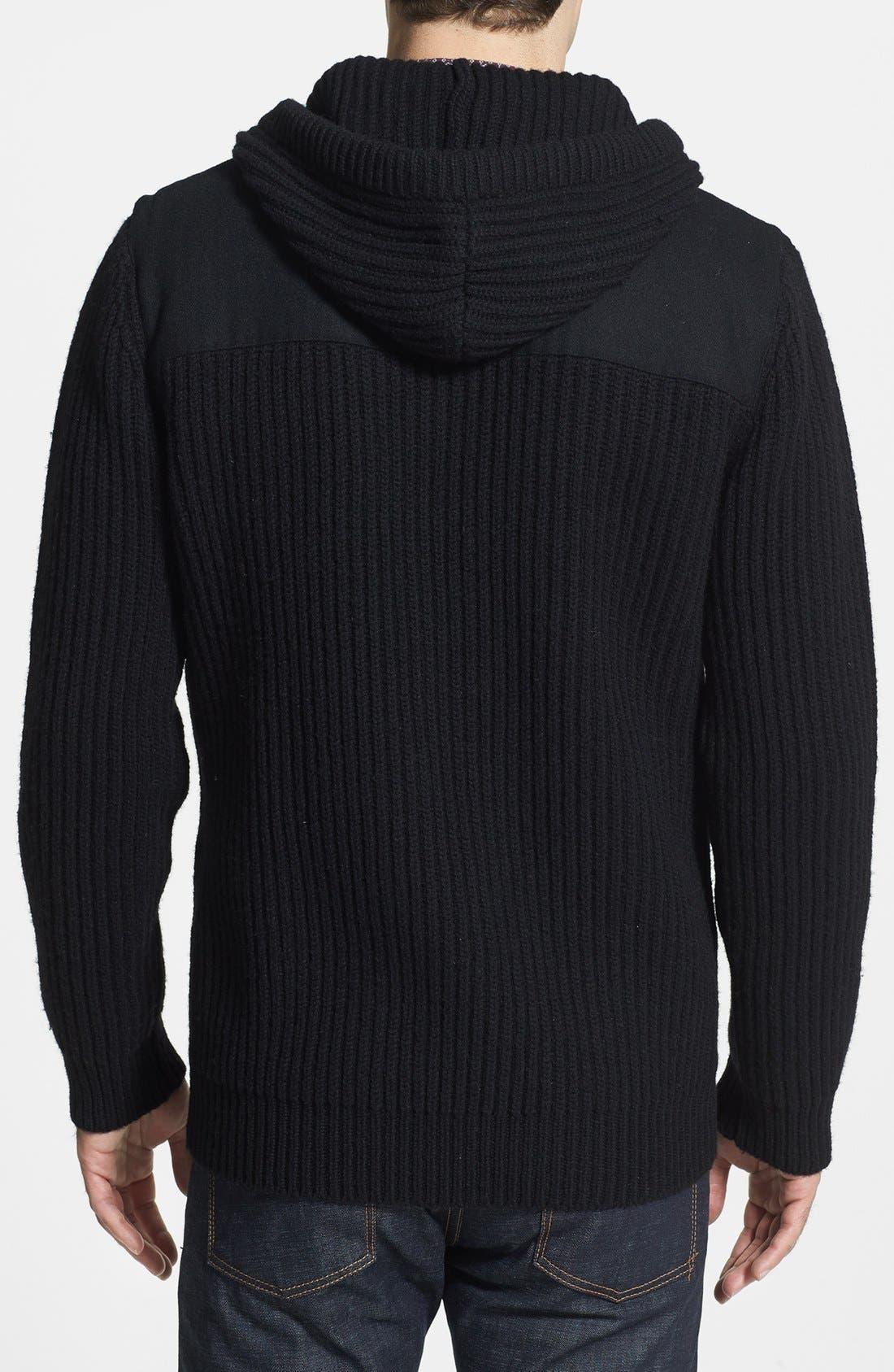 Alternate Image 2  - French Connection 'Myrrh Patch Melton' Sweater Jacket