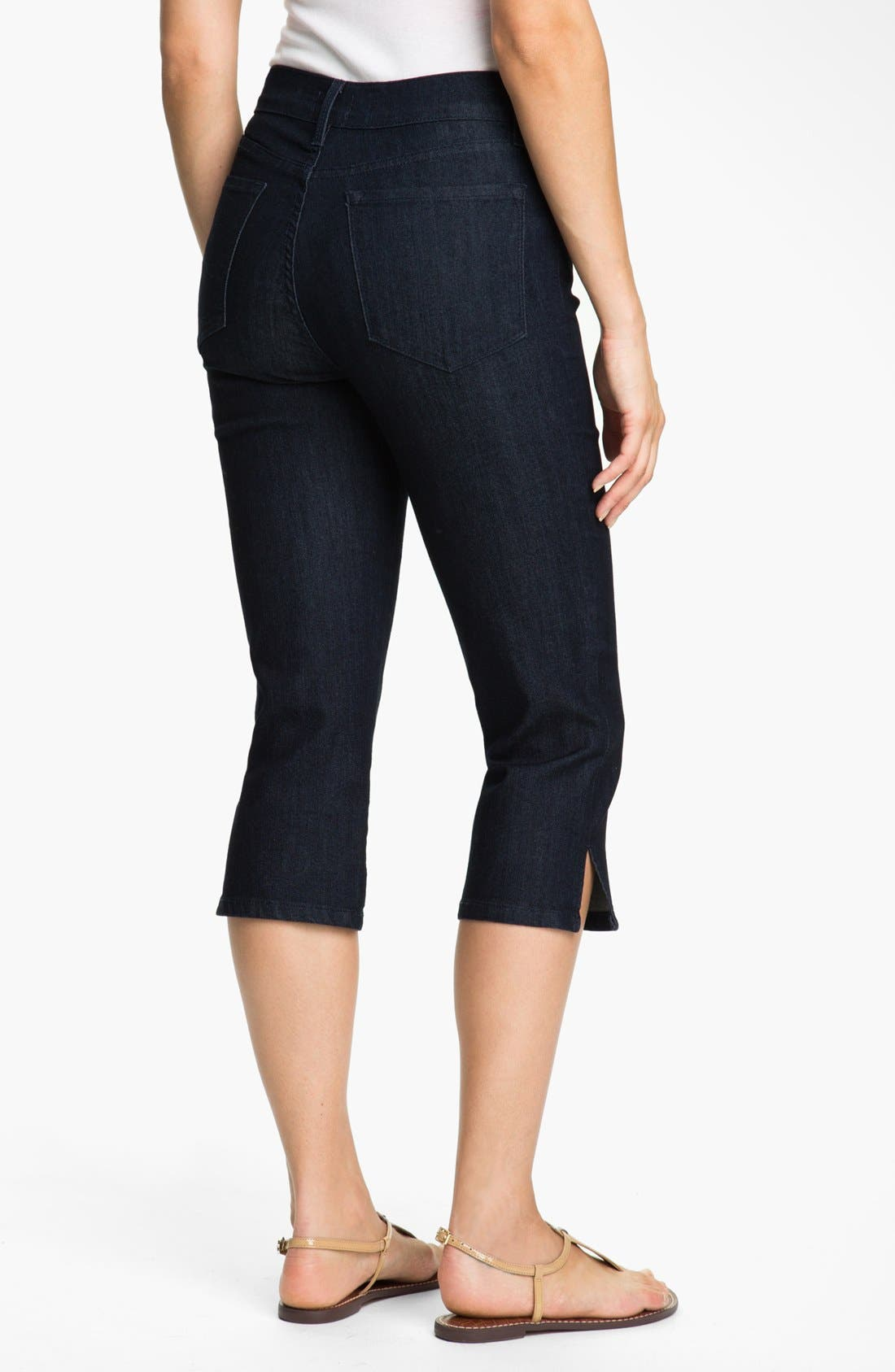 Alternate Image 2  - NYDJ 'Nanette' Stretch Crop Jeans (Dark Enzyme) (Petite)
