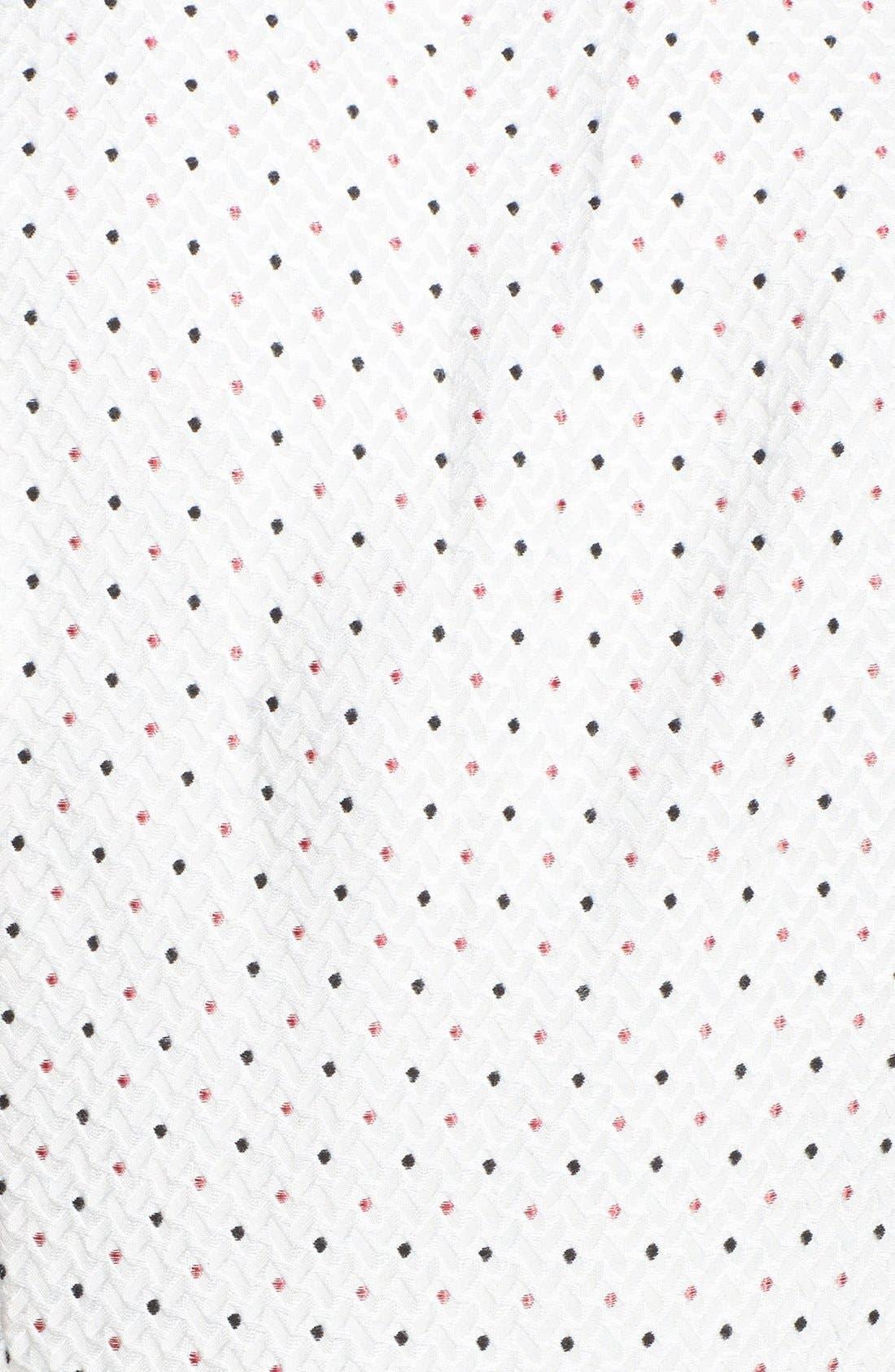 Alternate Image 3  - kensie Sequin Trim Jacquard Dot Dress