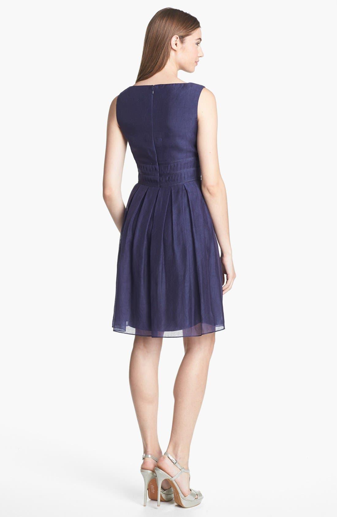 Alternate Image 2  - Ivy & Blu Crinkled Pleat Fit & Flare Dress