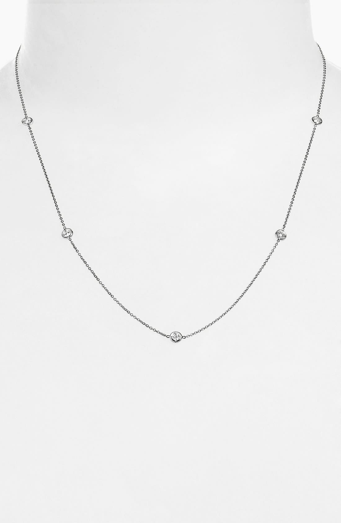 Alternate Image 1 Selected - Roberto Coin 'Diamonds by the Inch' Station Necklace