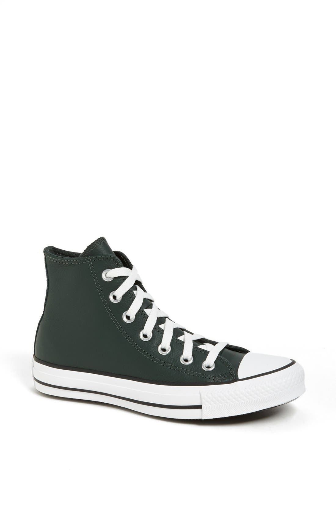 Alternate Image 1 Selected - Converse Chuck Taylor® All Star® Leather High Top Sneaker (Women)