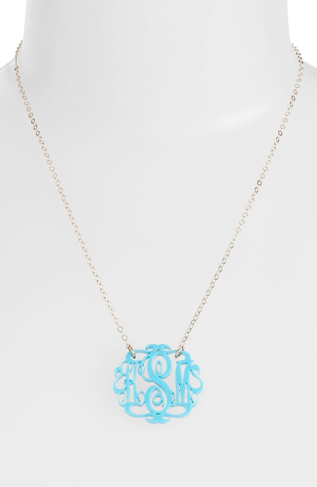 Alternate Image 2  - Moon and Lola Small Oval Personalized Monogram Pendant Necklace (Nordstrom Exclusive)