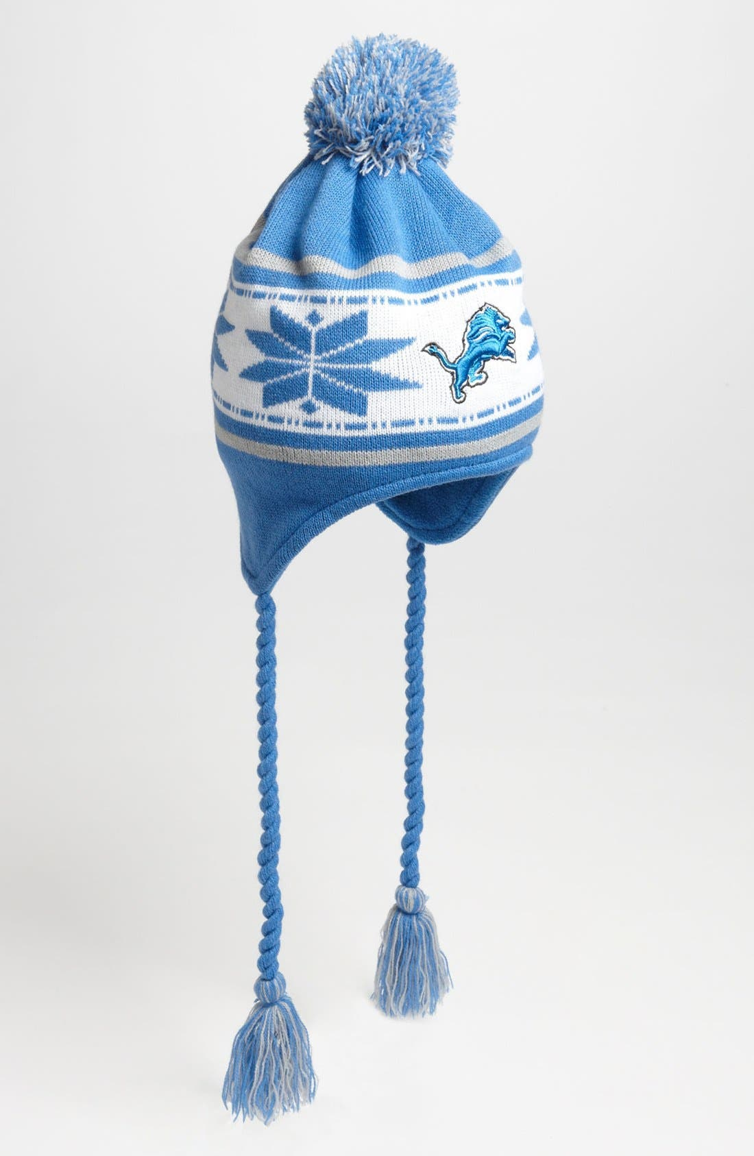 Alternate Image 1 Selected - New Era Cap 'Detroit Lions' Snowflake Tassel Hat