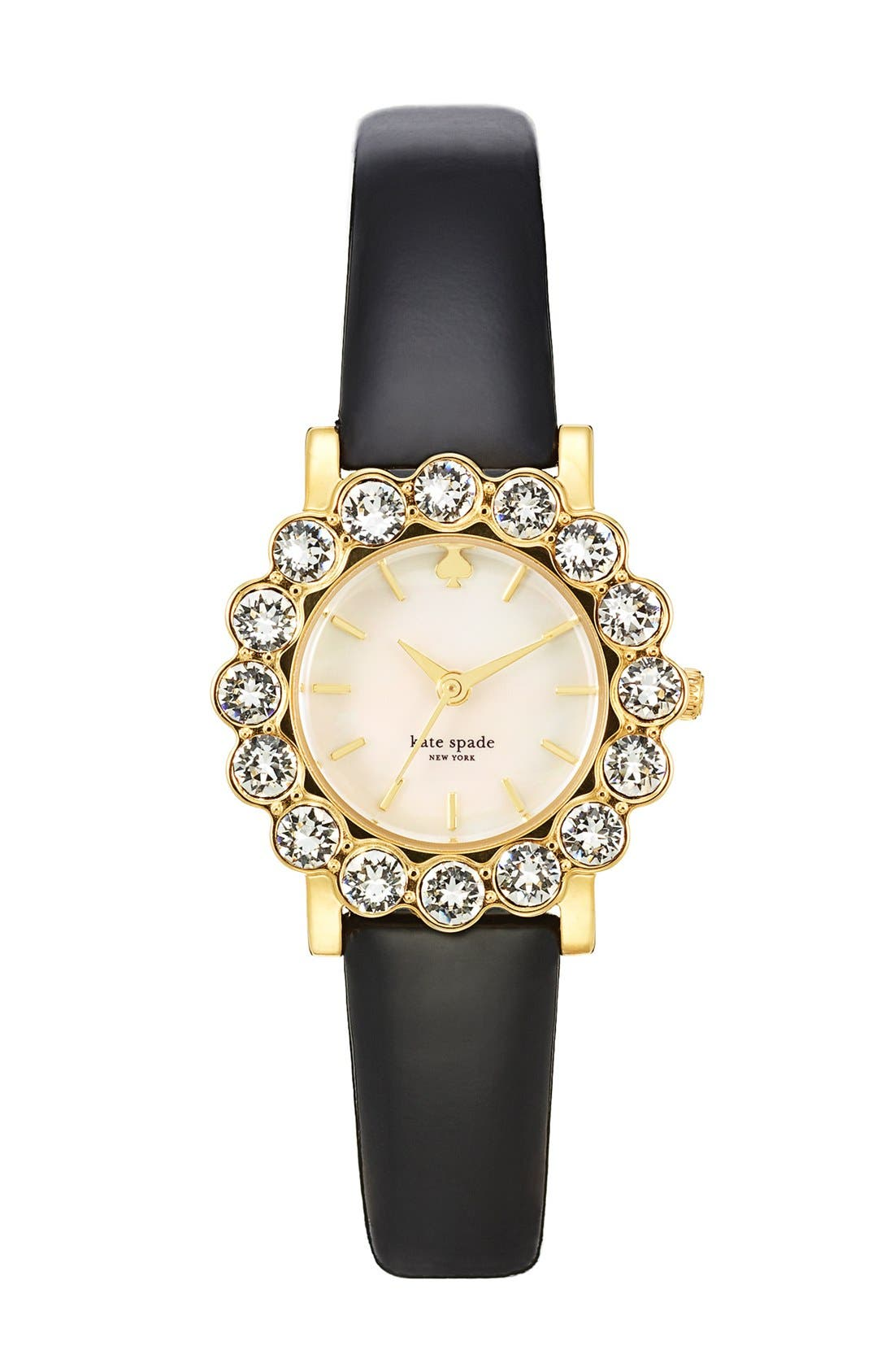 Alternate Image 1 Selected - kate spade new york 'belvedere' crystal bezel watch, 24mm