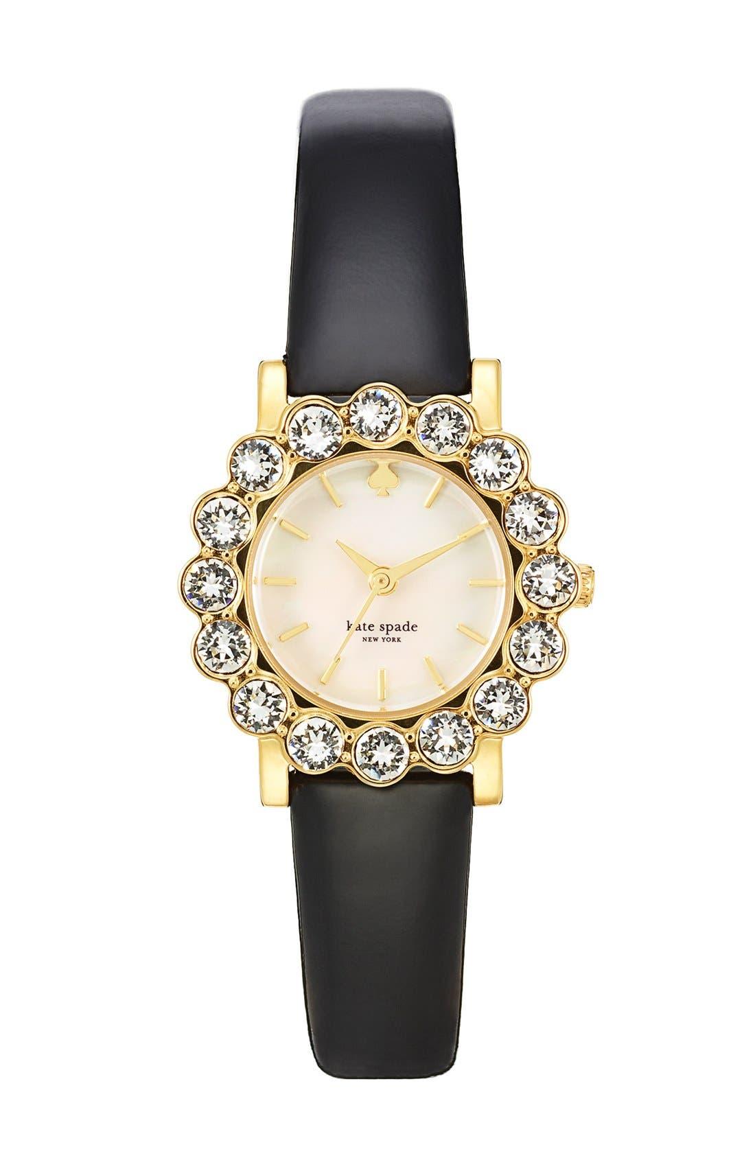 Main Image - kate spade new york 'belvedere' crystal bezel watch, 24mm