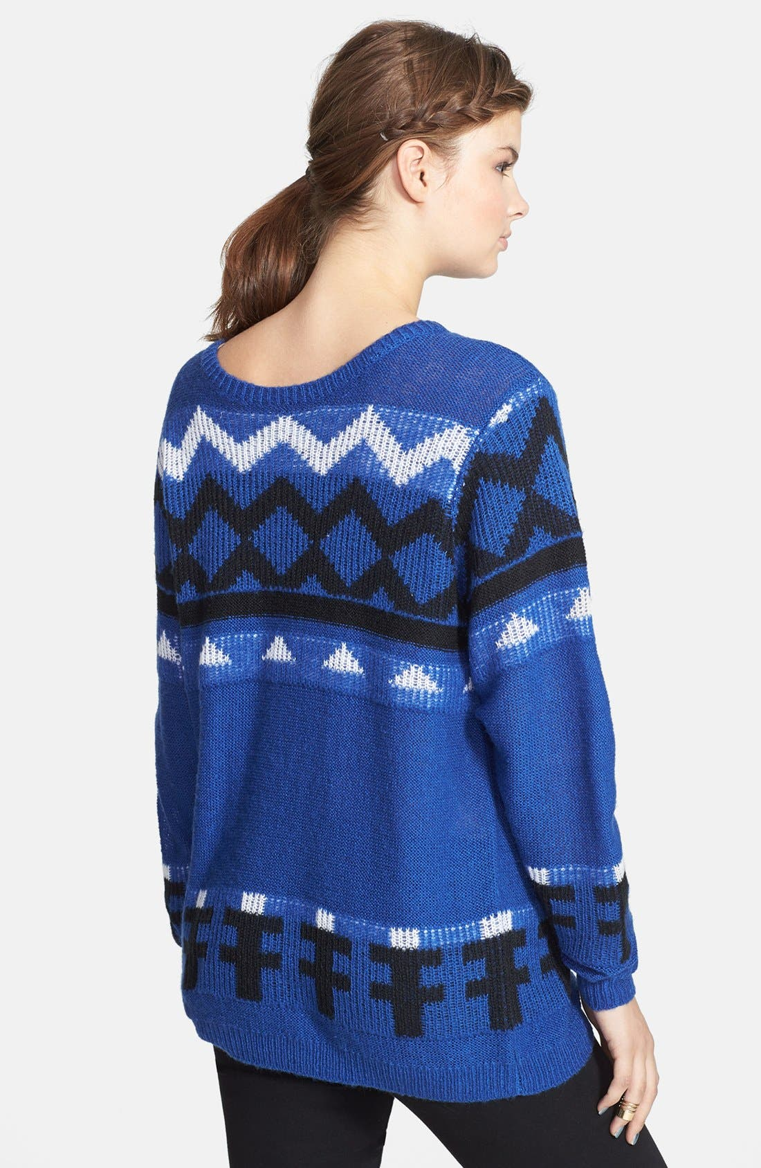 Alternate Image 2  - BP. Geometric Pattern Pullover (Juniors)