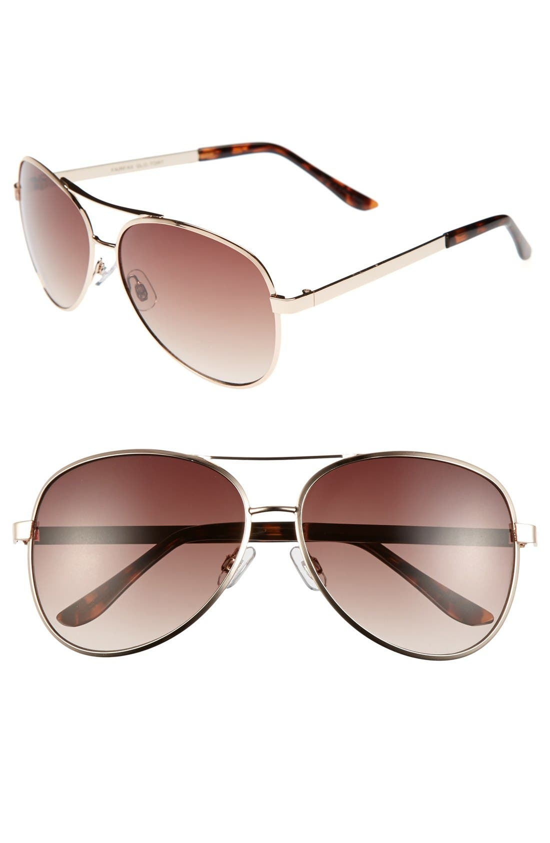 Alternate Image 1 Selected - Outlook Eyewear 'Fairfax' 59mm Aviator Sunglasses