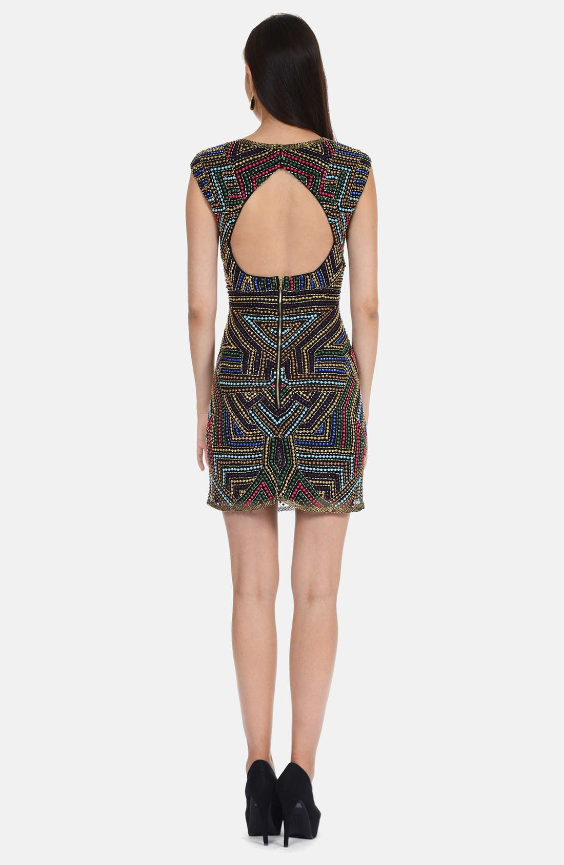Alternate Image 2  - Phoebe by Kay Unger Embellished Shift Dress