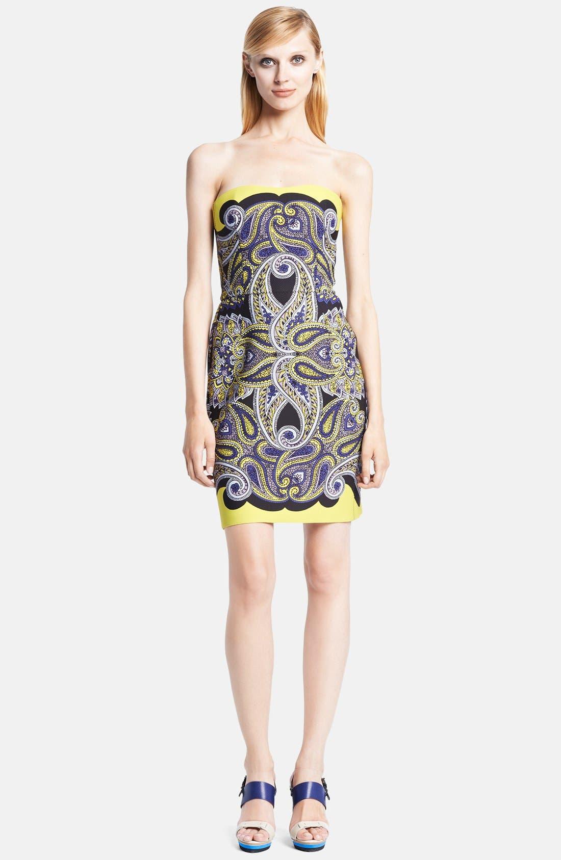 Main Image - Lanvin Strapless Techno Piqué Bustier Dress