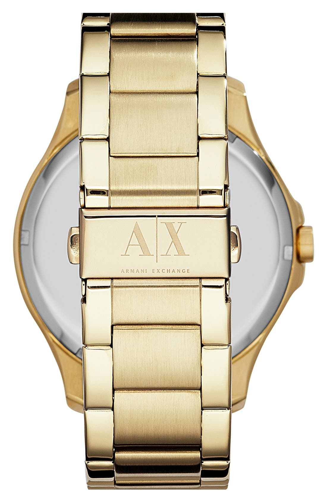 Alternate Image 2  - AX Armani Exchange Bracelet Watch, 46mm